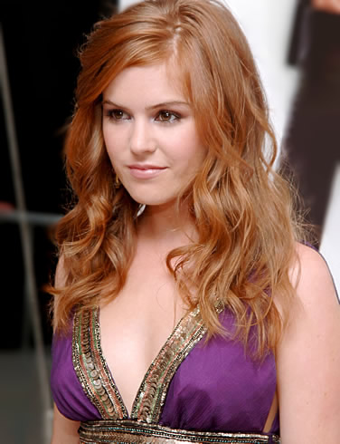 Isla Fisher with a Purple Dress